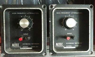 Pair Altec Lansing N501-8A Crossovers / Dividing Networks, Voice of the Theater