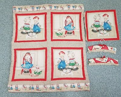 Mabel Lucie Attwell Vintage Children / Baby Quilt - Cushion Cover - Coat Hangers