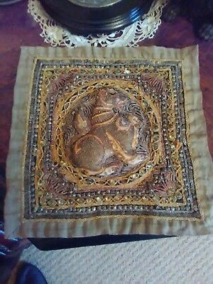 antique south asian wall hanging tapestry