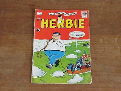 Herbie #1 Acg Silver Age Mid Grade Make Way For The Fat Fury! Check My Comics!!
