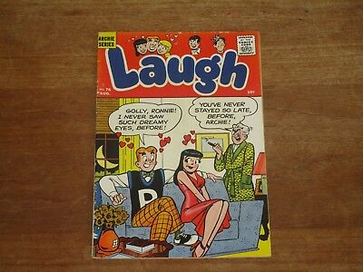 Laugh #76 Archie Silver Age Higher Grade 10 Cent Archie Veronica Love Cover