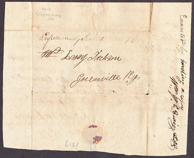 Russellville Ky ms town with 10 rate, 1817 folded letter to Greenville Key