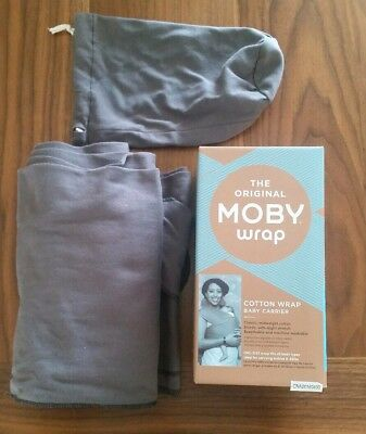 Authentic MOBY WRAP CLASSIC Baby/Infant Carrier-SLATE