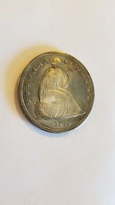 US 1843 Seated Liberty Silver Dollar. No Reserve!!