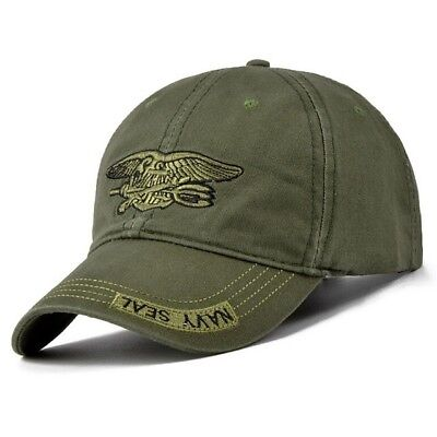 Army Green Baseball Cap Navy Seal Tactical Snapback Hat Adjustable For Men Women