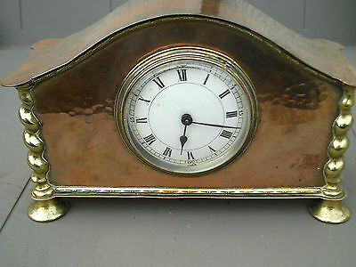 Stunning Rare Arts & Crafts Copper Mantel Clock