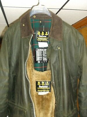 Mens Barbour A400 Northumbria Green Wax jacket size C46/117Cm Stock No.S71
