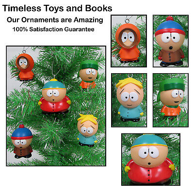 South Park Christmas Ornaments Set 5 Piece Set Eric Cartman, Kenny McCormick
