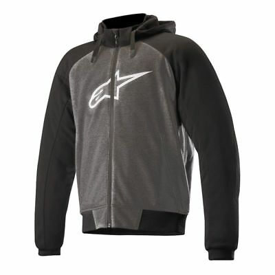 ALPINESTARS Chrome Sports Made With KEVLAR HOODIE Black/Grey CE Certified *NEW