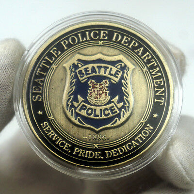 US City of Seattle Police Department St. Michael Commemorative Challenge Coin