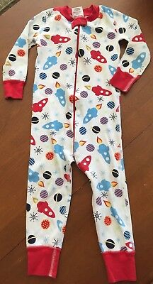 Boys Hanna Andersson Sleeper 18 24 Months 80 Space Ships Zip Up Cotton Multi Clr