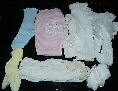 Vintage Little Girl Tights and Socks Baby Doll Infants Toddler