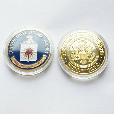 CIA Central Intelligence Agency American Gold Eagle Commemorati Challenge coin