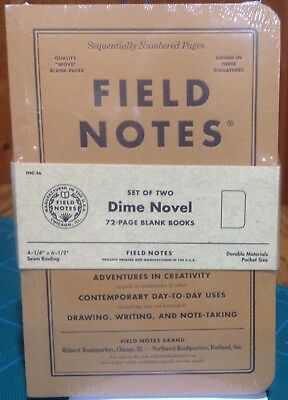 Field Notes Dime Novel - 2017 Fall Limited Edition Set Of Two - Sealed - New