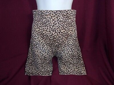 Vintage Leopard Print Animal Print Long Leg Girdle XL