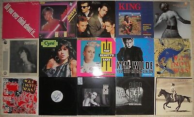 "New Wave / Synthpop, 15 Vinyl Record Lot 2 LP & 13 12"" Single 1 Sealed 4 Promo"