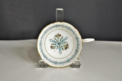Vintage COALPORT Geneva Bone China Scalloped Footed Cup Only Aqua Floral