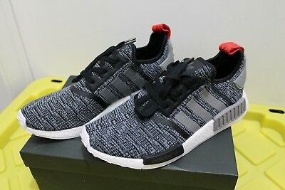 e9d11c31d Adidas NMD R1 Glitch Core Black   Grey Red Mens Size SZ 10.5 BB2884 DS  Deadstock