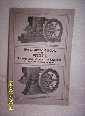 Witte Throttling Gov Eng's Inst. book #28,blue print,2 price lists circa 1900 .