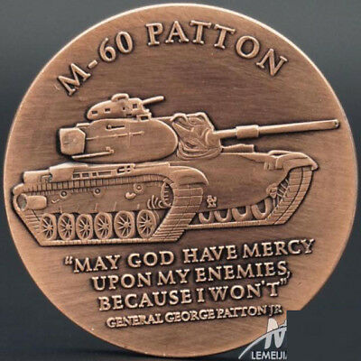 M-60 Patton tank military core values US Army Military Challenge Coin