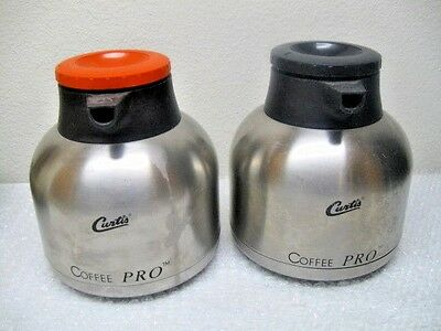 (2) CURTIS Stainless Steel THERMAL CARAFES CLX-64 Fits D60GT Coffee Maker NSF