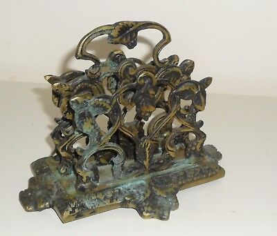 Antique Brass Letter Holder C.B.F Foundry England.