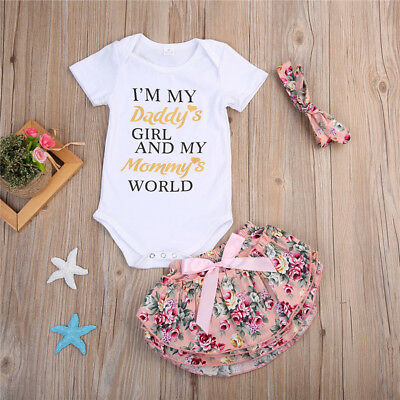 US Seller Newborn Baby Girl Romper Floral Bodysuit Sunsuit Summer Clothes Outfit