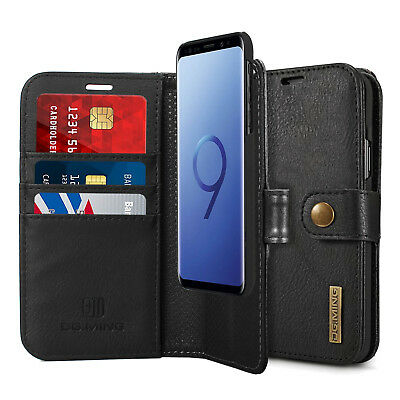 RFID Anti-theft Genuine Leather Wallet Case For Samsung Galaxy S9 S9+ S8 S8 Plus