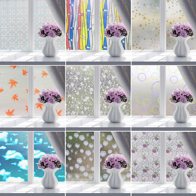 Self Adhesive Window Film Frosted Glass Sticker Decoration Privacy Home Bathroom
