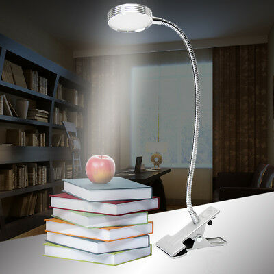 LED Desk Table Lamp USB Dimmable Eye Care Reading Light Flex Clamp Clip On Gift