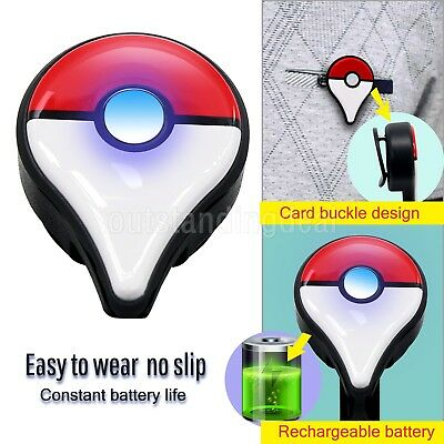 NEW!! Rechargeable Bluetooth Nintendo Pokemon Go Plus clip with Usb Cable