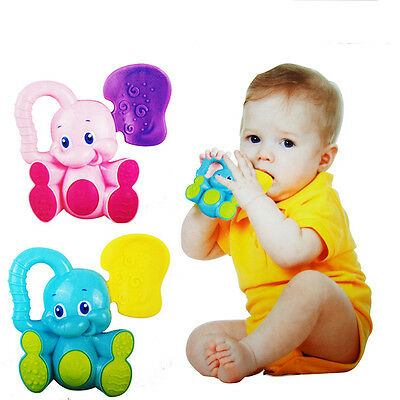 1* Elephant Animals Plastic Baby Toys Hand Rattle Xmas Birthday Toy Gifts Cute