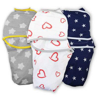 Snuggle Baby Swaddle Wrap Blanket Newborn Soft Sleeping Bag 100% Cotton