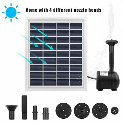 Solar Powered Water Pump Panel for Fountain Pond Garden 12V Automatic Watering