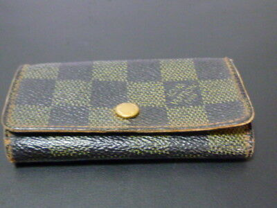 used Louis Vuitton Damier Multicles 4 Ring Key holder Case From Japan