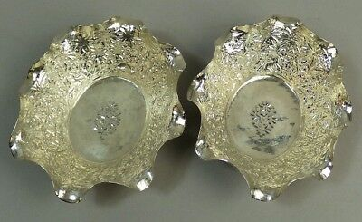 Antique Pair Of Indian Silver (Tested) Bon Bon Dishes C.1890