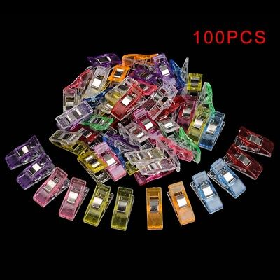 100X Plastic Pack Wonder Clips For Quilting Sewing Knitting Crochet Craft Tool