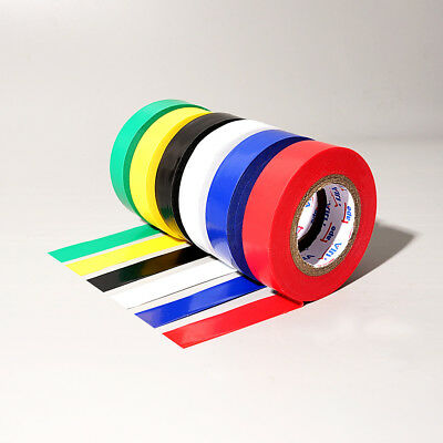 PVC Insulation Electrical Insulating Tape Flame Retardant 20m×17mm Multi Colors