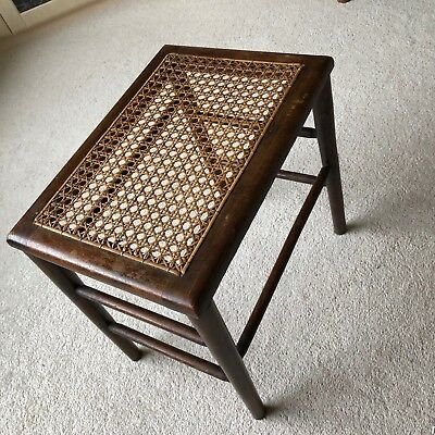 Antique Edwardian 1902 Coronation Edward VII Rattan Woven Bamboo Side End Table