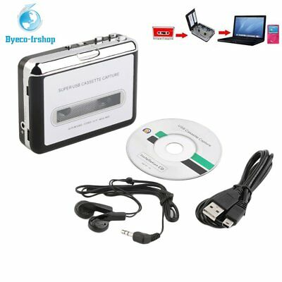 Tape to PC Super USB Cassette-to-MP3 Converter Capture Audio Music Player NEW QR