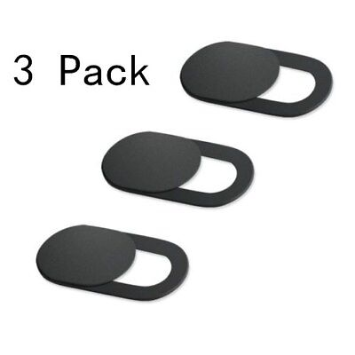 3 Pack Ultra-Thin Webcam Cover Camera Privacy Blocker for Laptops Macbook Black