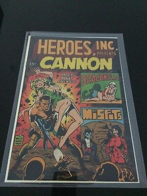 Cannon in Heroes Inc, Wally Wood and Ditko Art,1969 issue #1,NM-, WorthCGC