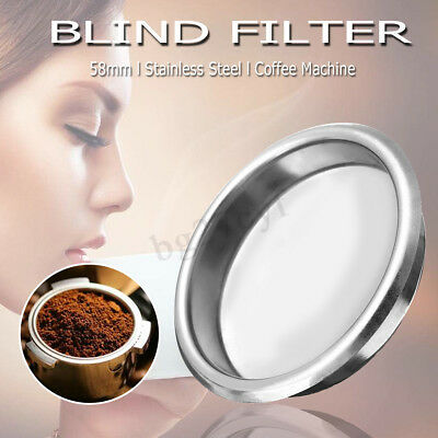 BLIND FILTER Coffee Machine Maker Backflush Flush Basket Stainless Steel 58mm AU