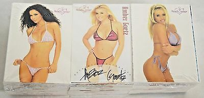 Lot Of 150 2002 Bench Warmer Cards Sealed W/ Amber Goetz Autograph On Top F447