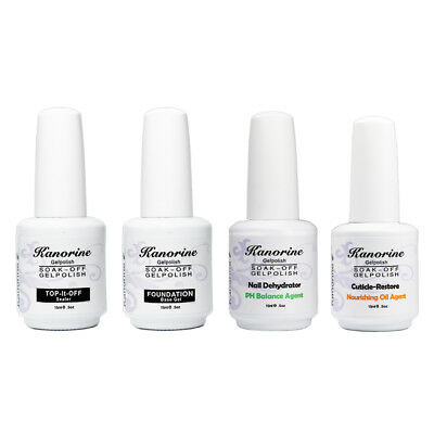 Kanorine Gel Nail Polish Base Coat No Wipe Top Coat Bonding Helper PH Balance
