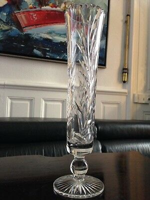 Vase crystal or glass crystalline glass decor carved crystal vase