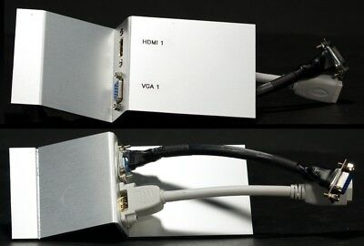 Angled AV Floor Box Plate, HDMI / VGA, (L)172mm x (W)75mm
