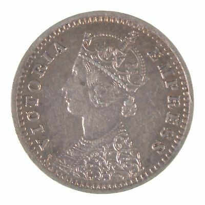 1888 British India Silver Two Annas Queen Victoria *5726