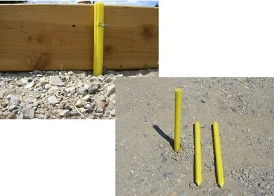 "Low Cost 12"" Strong Re-usable STAKES Contractor masonry CONCRETE FORMS  50 /YEL"