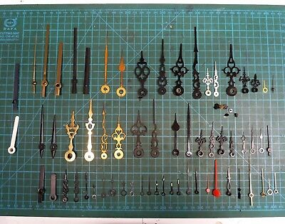 Job Lot Of Assorted New Old Stock Clock Hands For Spare Scrap Or Steampunk.